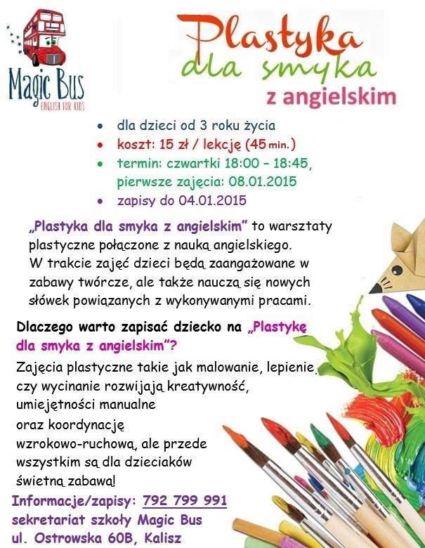 plastyka dla smyka z angielskim