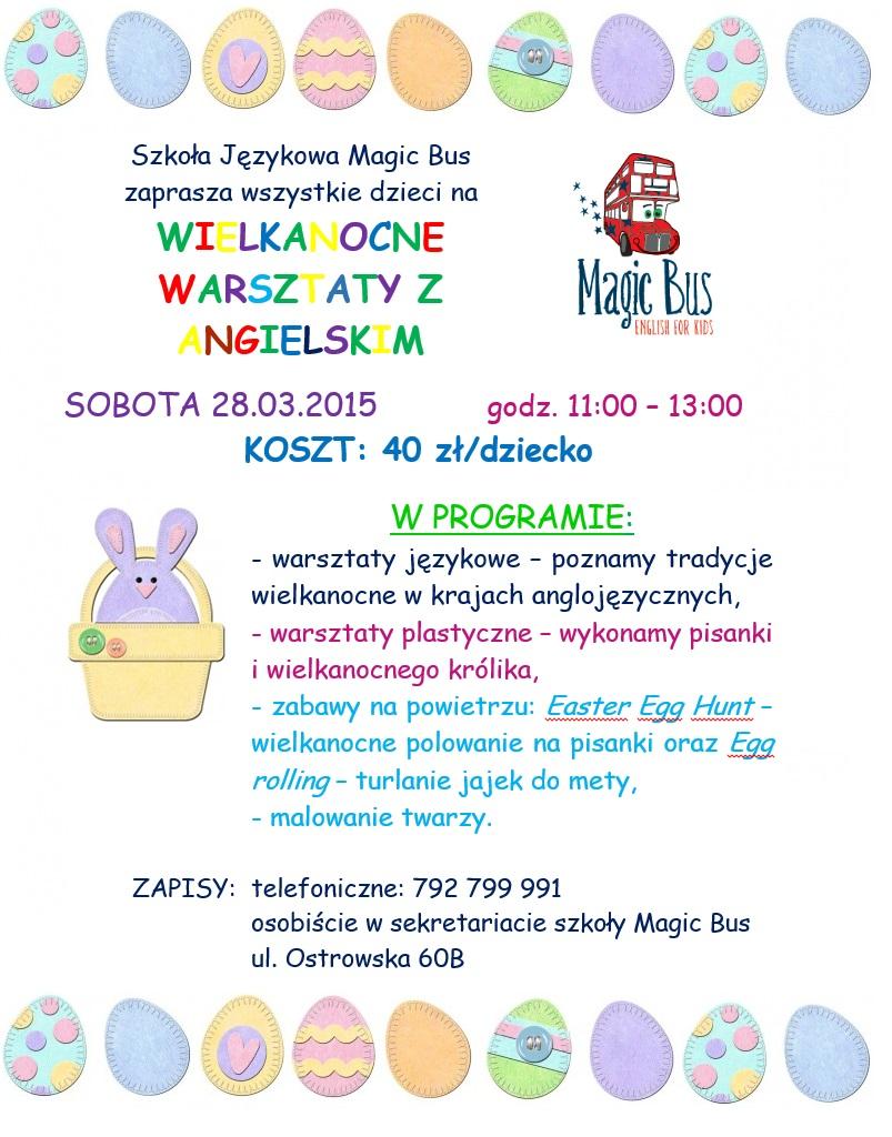Wielkanocne Warsztaty z angielskim w Magic Bus