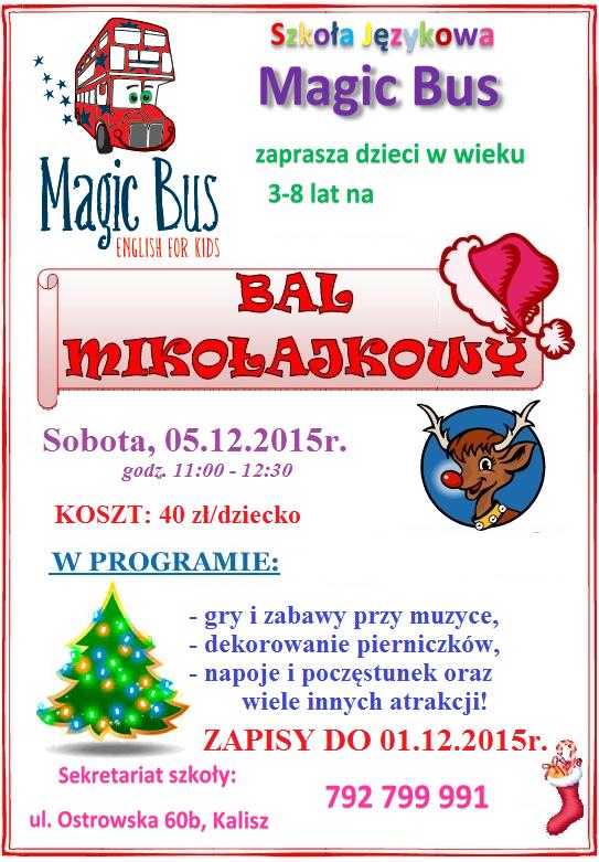 plakat bal mikolajkowy 2015
