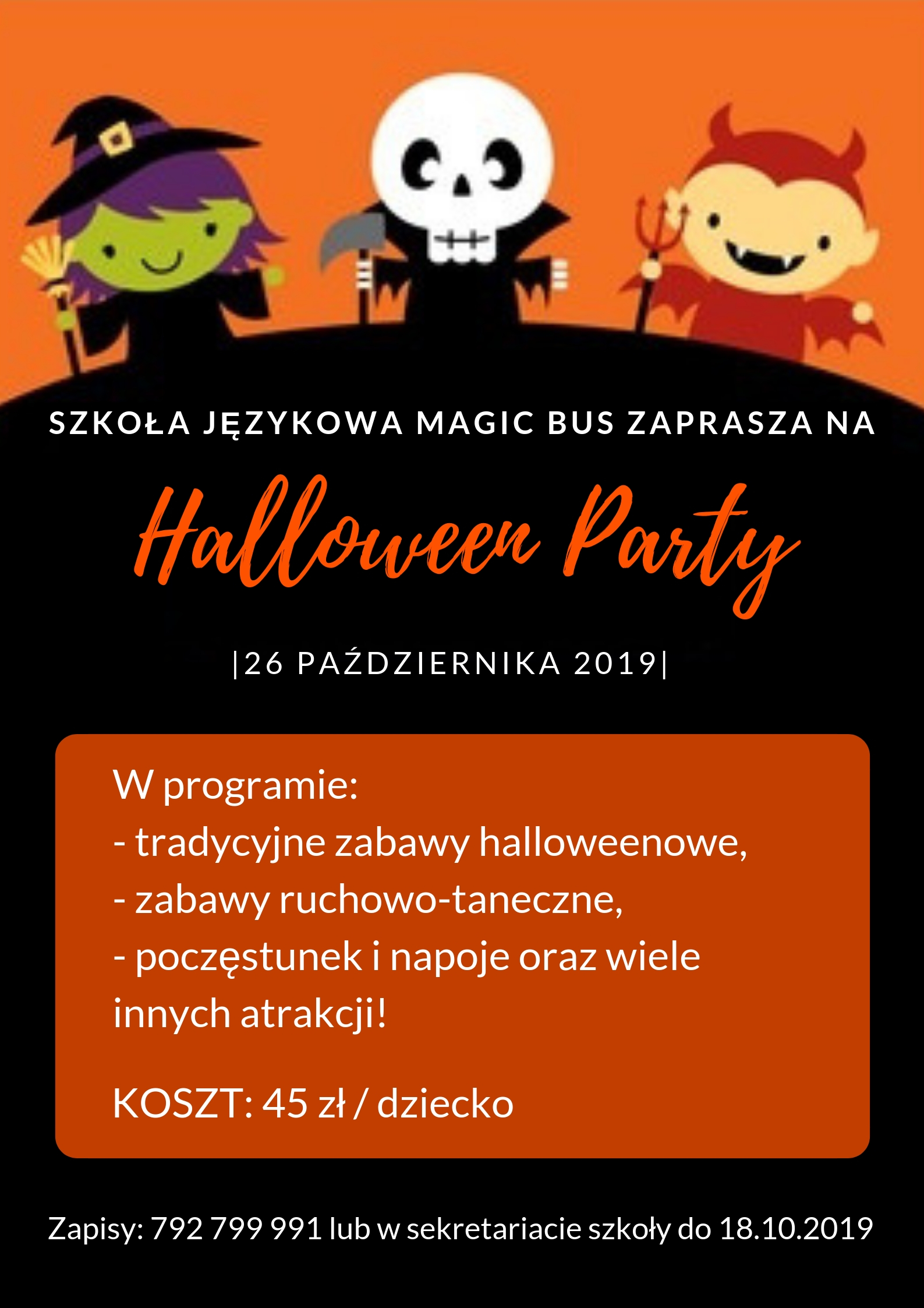 Halloween Party 2019 w Magic Bus